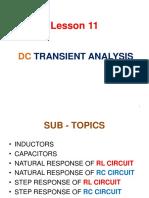 Lesson 11 DC Transient Analysis