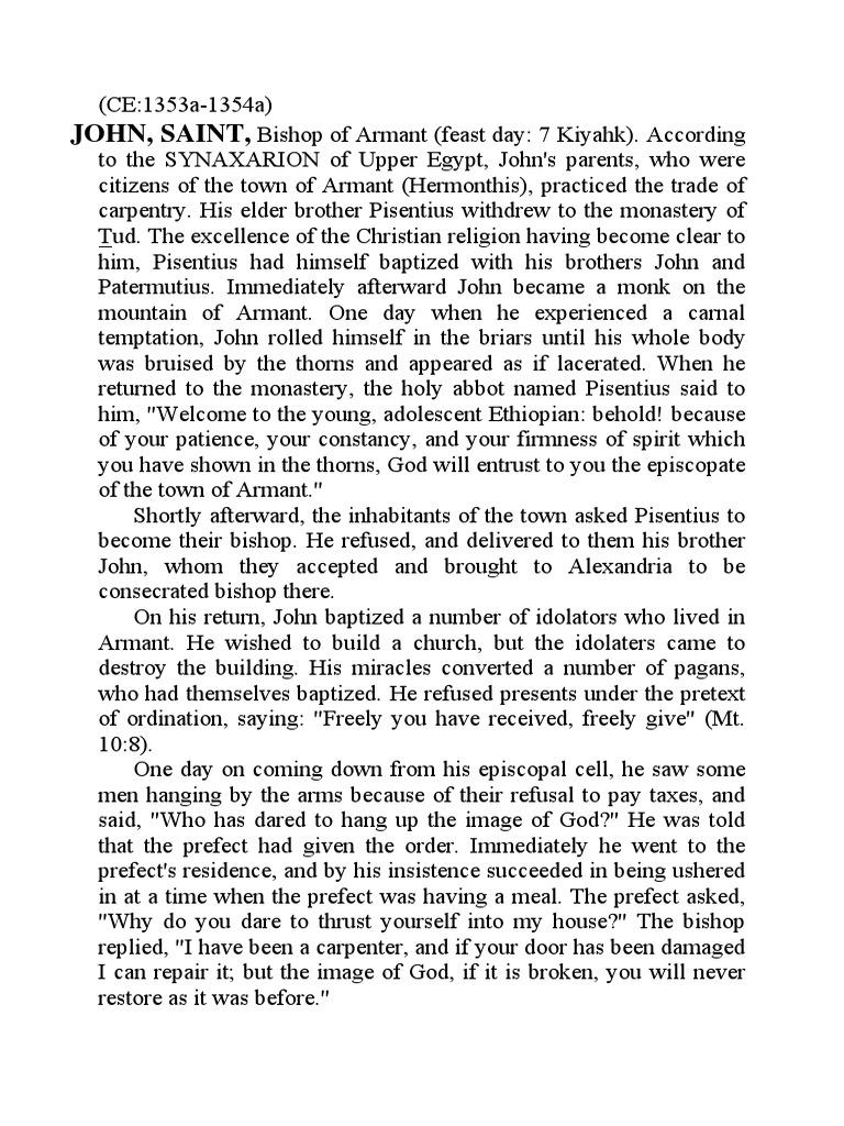 Coptic Encyclopedia Volume v (JOH-MUF) | John The Baptist | Jesus