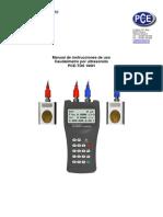 Caudalímetro Por Ultrasonidos Manual PCE TDS 100H