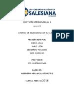 Gestión de Relación Con El Cliente (CMR)
