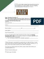 Craft Fair Application 2016
