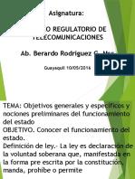 Lección n 1 Marco Regulatorio de Telecomunicaciones