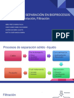 Sistemas de Separación en Bioprocesos- Floculación ,Flotación, Filtración (1)