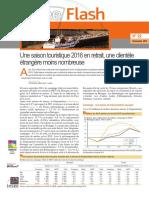 Bretagne. Une saison touristique 2016 en retrait (Insee)