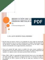 Reducción de Los Óxidos Metálicos 1