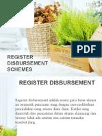 Register Disbursement & Billing Schemes