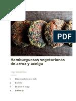 Hamburguesas Vegetarianas de Arroz y Acelga