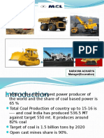 Maintenance management of equipment in coal mines