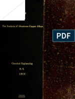 Analysis of Alumin in Copper Alloy