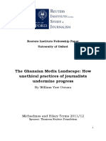 The Ghanaian Media Landscape How Unethical Practices of Journalists Undermine Progress