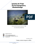 Apuntes de Viaje, Peñon de Cayaguanca, Chalatenango