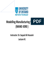01 Modelling Manufacturing Systems Lecture #1