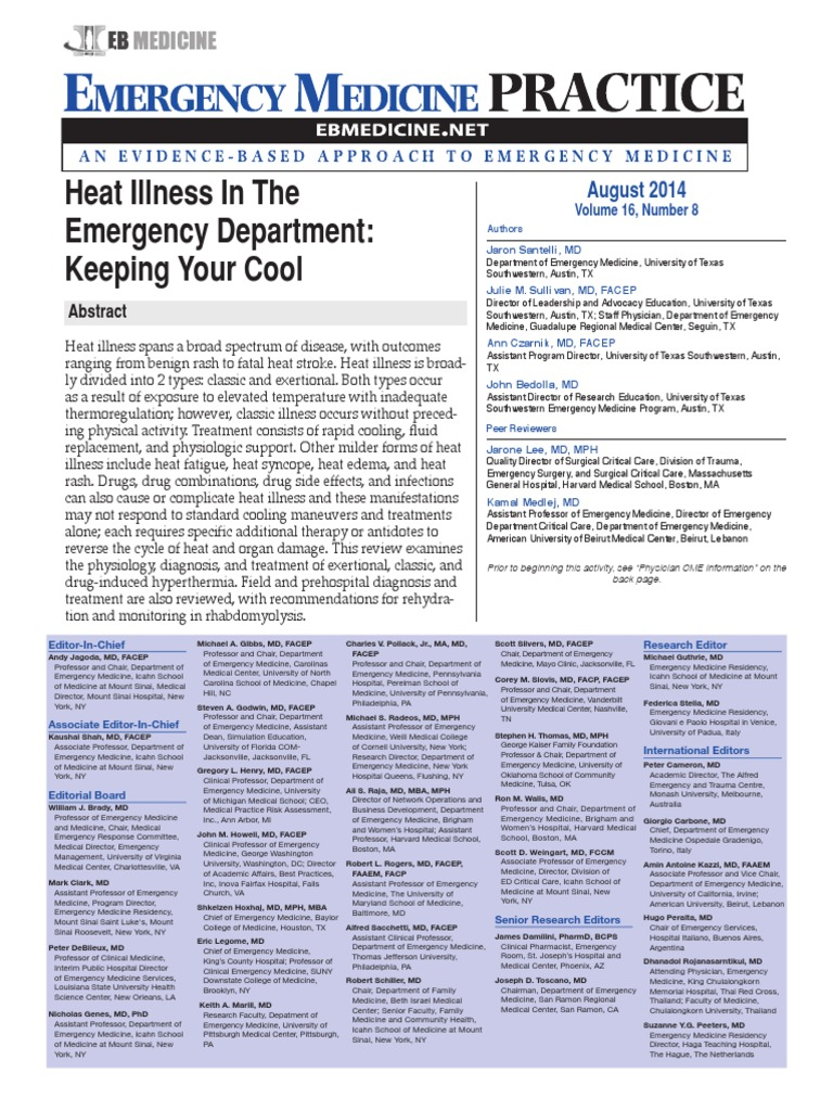 Heat Illness In Emergency Department | Hyperthermia