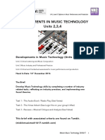 Ual Units 2,3 and 4 Developments in Music Technology