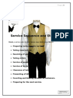 Service Sequence and Etiquette