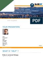 COM08 an Elegant Solution for Creating Dynamics NAV User Documentation