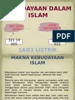 Kebudayaan Dalam Islam