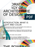 Chromatic Energy of Architecture of Design