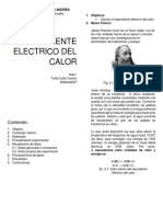 Eq Electrico Del Calor Informe