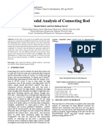 Static and Modal Analysis of connecting rod