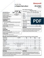 Honeywell Sensing Bipolar Digital Hall Effect Sensor Ic Installation Instructions Ss41 Pk87881 6 En