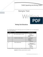writing test example