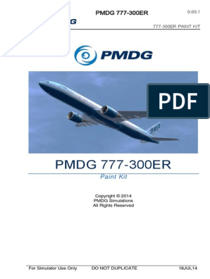 Pmdg 777 300er Paint Kit | Adobe Photoshop | Copyright
