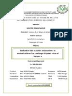 Evaluation des activités antioxydant et antiradicalaire d'un mélange d'épices « Ras el hanout »
