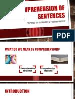 Comprehension of Sentences