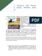 Francesco Tonucci-20 Frases Sobre El Juego Infantil