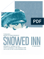 Snowed Inn Playbill