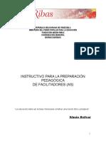 Instructivo Para La Capacitación Pedagógica_Resumen
