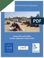 2016 11 22 - Female IDPs and Kunduz Conflict