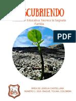 REVISTA DESCUBRIENDO INSTITUCIÓN EDUCATIVA TÉCNICA LA SAGRADA FAMILIA 2016