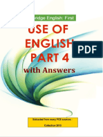 Cambridge English First Use of English Part 4 With Answers