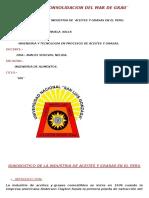 DIAGNOSTICO DE LA INDUSTRIA DE ACEITES Y GRASAS EN EL PERU