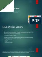 Amplia más sobre el lenguaje no verbal