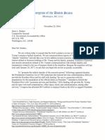 Elizabeth Warren and Elijah Cumming's Letter to the Comptroller General