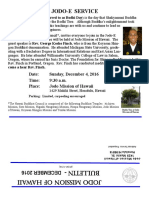 Jodo Mission Bulletin - December 2016
