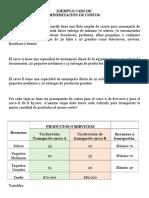 Ejemplo Minimización Costos Empresa Tenerife