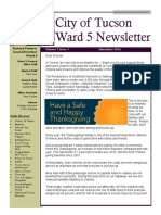 Tucson Ward 5 Newsletter for November 2016
