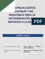 15.12.13 Gastos Deducibles y No Deducibles