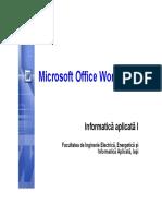 Curs 3 - Microsoft Word