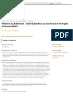 Métiers Du Bâtiment _ Technicien Bbc Ou...Icien Énergies Renouvelables - 01