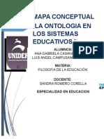 Mapa conseptual Ontologia de los Sistemas Educativos