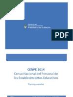 CENPE 2014 Resultados Preliminares