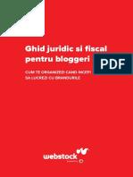 Ghid Juridic Si Fiscal Pentru Bloggeri