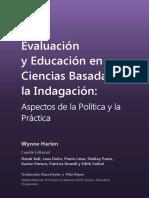 Harlen - Evaluacion y Educacion en Ciencias Basada en La Indagacion 2013