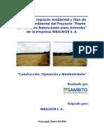 Estudio de Impacto Ambiental de La Planta Inbalnor s. a[1]