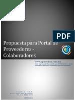 Propuesta Para Portal de Proveedores